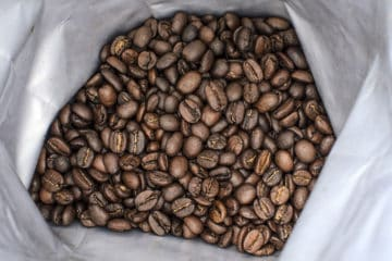 Coffee Beans in plastic bag