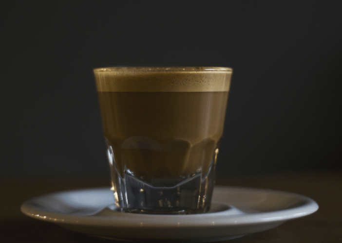 Brewed coffee in glass
